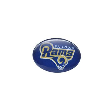 Glass Snap Button 18mmX25mm ST Louis Rams Charms Snap Bracelet for Women Men Football Fans Gift Paty Birthday Fashion 2017