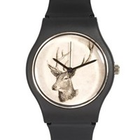 MAY 28TH Deer Watch Black Matte Plastic Buckle at asos.com