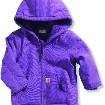 Carhartt CP9460 Infant Girls Redwood Jacket, Patrician Purple, 24 Month