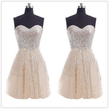 Strapless Pure Color High Waist Splicing Short Dress