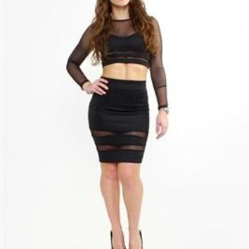 Bombshell Bodycon Black