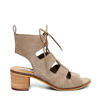 Suede Mules with Stacked Heels | Steve Madden ALPASSA