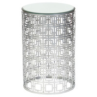 Aleah Accent Table, Nickel, Standard Side Tables