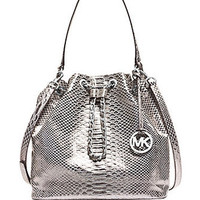 Michael Michael Kors Frankie Metallic Python Large Shoulder Bag