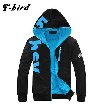 T-Bird 2017 New Fashion Hoodies Brand Men Letter Printing Men'S Sportswear Hoody Hip Hop High Quality Autumn Winter Hoodie 6XL