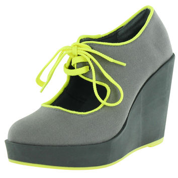 Volatile Clownin Women's Wedge Platform Maryjane Shoes