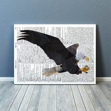 Bald eagle poster Geometric decor Bird of prey print Wall art TOA78-1