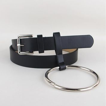 Basic Belt With Metal Ring