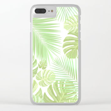 Pastel colors jungle Clear iPhone Case by exobiology