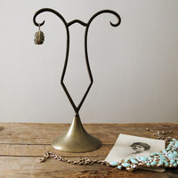 Vintage Brass Jewelry Holder