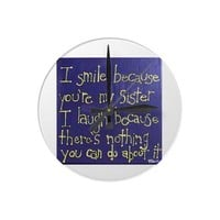 Clock for your sister- Funny gift from Zazzle.com