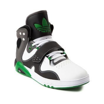 Mens adidas Roundhouse Athletic Shoe, White Black Green | Journeys Shoes