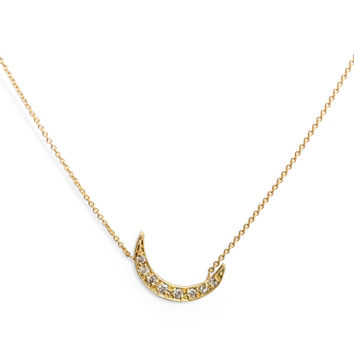 Crescent Moon Necklace - Catbird