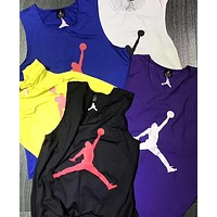 Jordan Popular Casual Classic Big Logo Print Sleeveless Sport Vest Top(5-Color) I13382-1