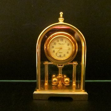 Pierre Nicol Miniature Brass Anniversary Pendulum Clock Japan Sony Movement