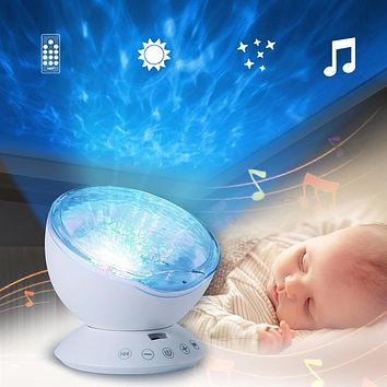 Ocean Wave Night Light - LED Light Projecting Colors