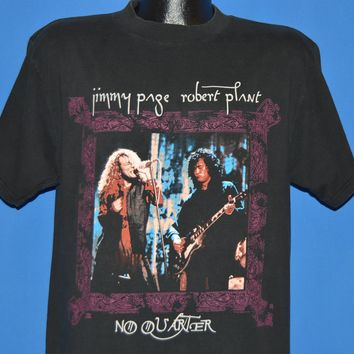 90s Page And Plant No Quarter World Tour 1995 t-shirt Large