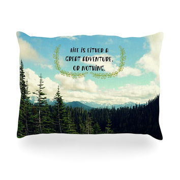 "Robin Dickinson ""Life Is..."" Landscape Typography Oblong Pillow"