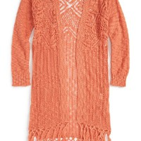 Freshman Knit Fringe Sweater (Big Girls) | Nordstrom