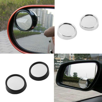 2pcs universal Driver 2 Side Wide Angle Round Convex Car Vehicle Mirror Blind Spot Auto RearView for all car hot selling