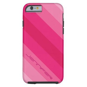 iPhone 6 Case Five Pink Diagonal Stripe Customize