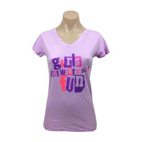Cyndi Lauper Women's  Girls Just Want To Have Fun Flower Girls Jr Lilac