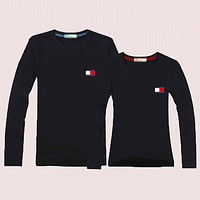 TOMMY Momen Men  Casual Long Sleeve Top Sweater Pullover