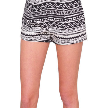 Parisian Shorts - Black/White Print