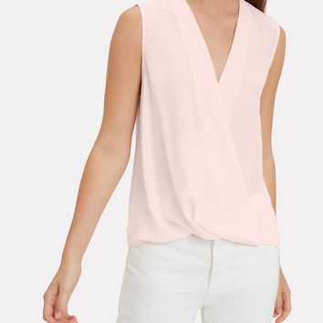 Victor Baby Pink Wrap Blouse