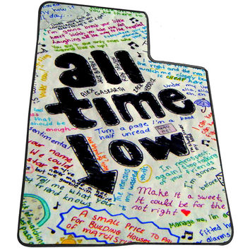 All Time Low Lyric Blurb 8c9c785a-a7b5-4738-871e-f907cd775e0e for Kids Blanket, Fleece Blanket Cute and Awesome Blanket for your bedding, Blanket fleece *AD*