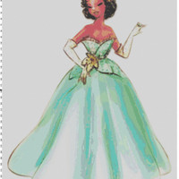 Disney Designer Princess Doll Tiana (Princess and the Frog) Cross Stitch Pattern PDF (Pattern Only)