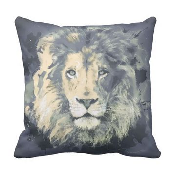 COSMIC LION KING | Grade A Cotton Throw Pillow
