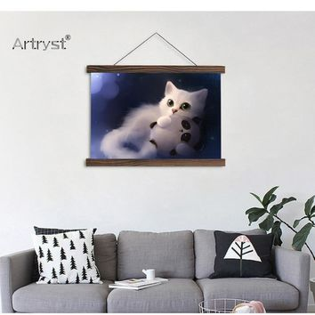 HD Cute Cat Picture Wall Hanging