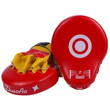 Boxing Training Equipment Punching Kicking PU Leather Pad Punch Mitt Curved Hand Target MMA Boxing Curved Punch