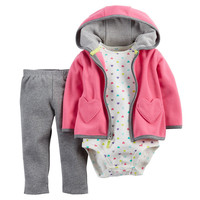 Pack Baby Boys Girls Clothing Sets Long Sleeved Coat + Bodysuits + Pants Winter Autumn Spring Fleece Jackets Jumpsuits