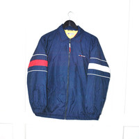 Tommy Hilfiger jacket early 90s designer zip up windbreaker CLUB kid tommy hilfiger coat medium