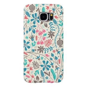 Retro Floral Pattern Samsung Galaxy S6 Cases