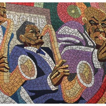 Jazz Band Stretched Wall Tapestry
