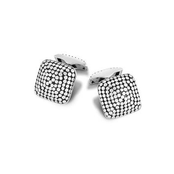 John Hardy dot collection square dome cufflinks