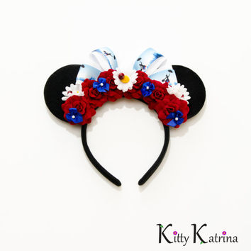 Mary Poppins Mouse Ears Headband, Mary Poppins Party, Mary Poppins Costume, Mary Poppins Dress, Disney Ears, Disney World, Disneyland