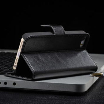 iPhone 5 / 5S Luxury Genuine Real Leather Flip Stand Wallet Case Cover