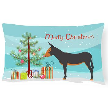 Catalan Donkey Christmas Canvas Fabric Decorative Pillow BB9222PW1216