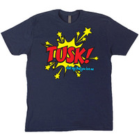 TUSK! Fleetwood Mac Navy Blue T-Shirt (Lindsey Buckingham, Stevie Nicks, Christine McVie, John McVie, Mick Fleetwood)