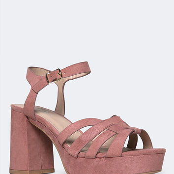 Taffy Platform Ankle Strap Low Heel
