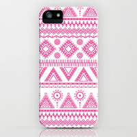 Hot Pink Aztec iPhone & iPod Case by Kate