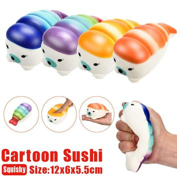 12cm Kawaii squeeze toy squishy Jumbo Sushi Scented  Charm Slow Rising Squeeze Stress Reliever Decor Toy antistress