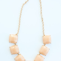 Evelyn Blush Statement Necklace