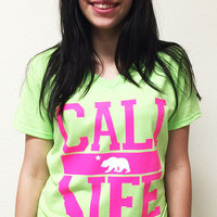 Green Cali Life V-Neck