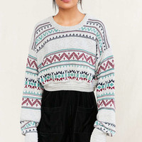 Urban Renewal Remade Cropped Fair Isle Sweater - Urban Outfitters