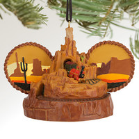 disney parks christmas big thunder mountain railroad ear hat ornament new with tag